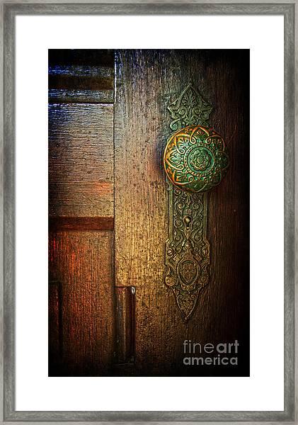 Doorknob Framed Print