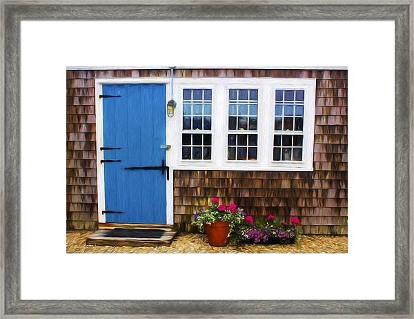 Blue Door - Doors And Windows Series 01 Framed Print