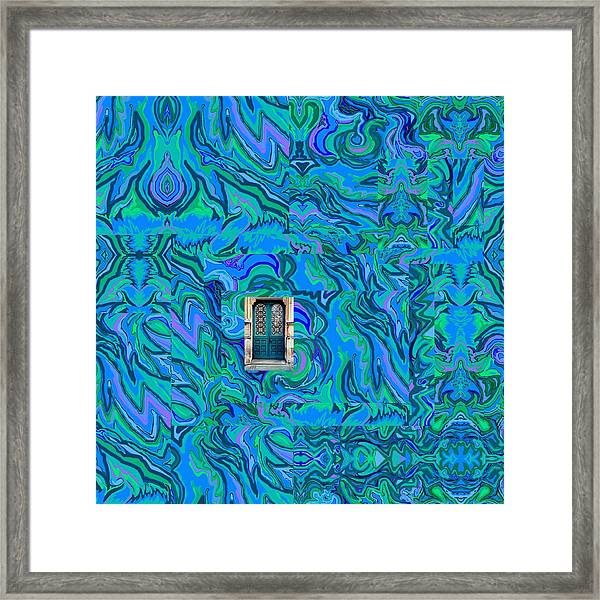 Doorway Into Multi-layers Of Water Art Collage Framed Print
