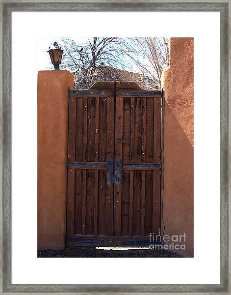Doorway New Mexico Framed Print
