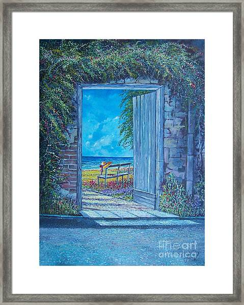 Doorway To ... Framed Print