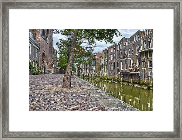 Dordrecht Behind The Church Framed Print