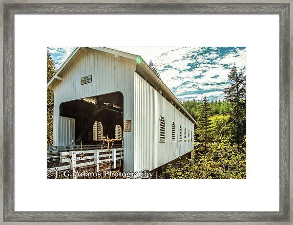 Dorena Covered Bridge Framed Print