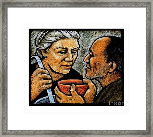 Dorothy Day Feeding The Hungry - Jlddf Framed Print