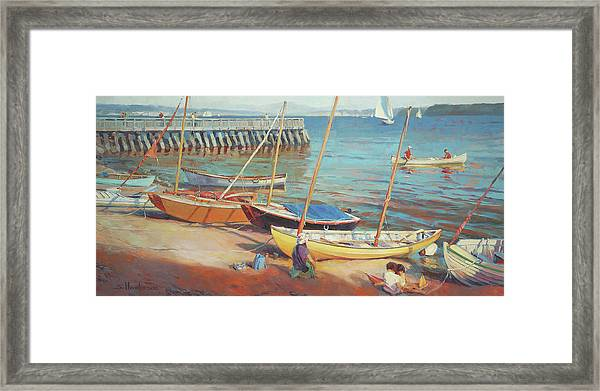 Dory Beach Framed Print