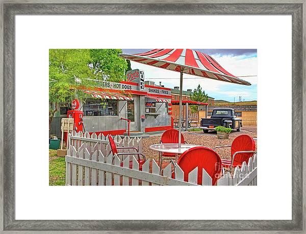 Dot's Diner In Bisbee Arizona Framed Print