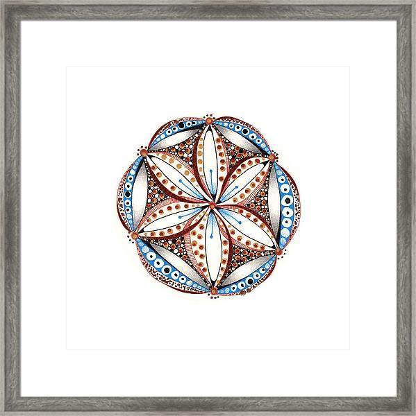 Dotted Zendala Framed Print