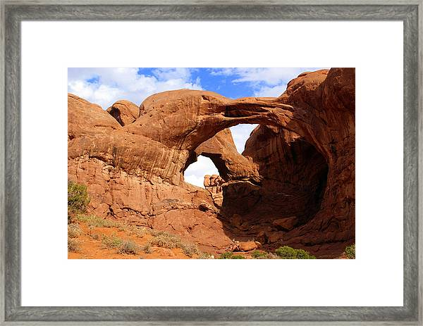 Double Arch Framed Print