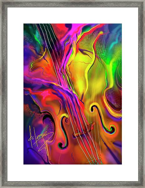Double Bass Solo Framed Print