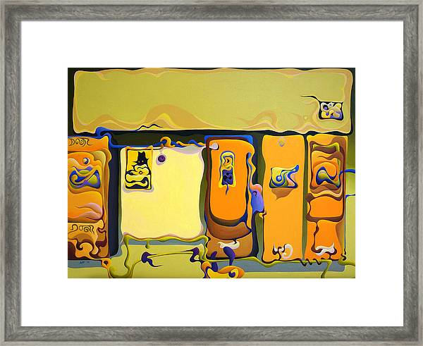 Double Door Power Play Framed Print