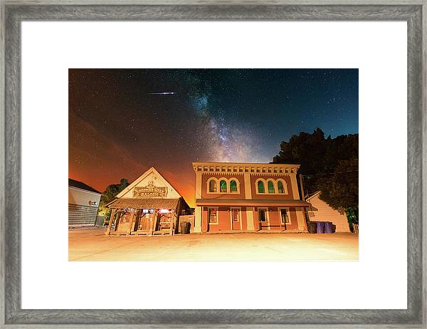 Double Shooting Star Framed Print
