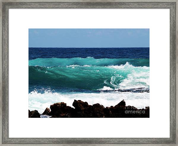Double Waves Framed Print
