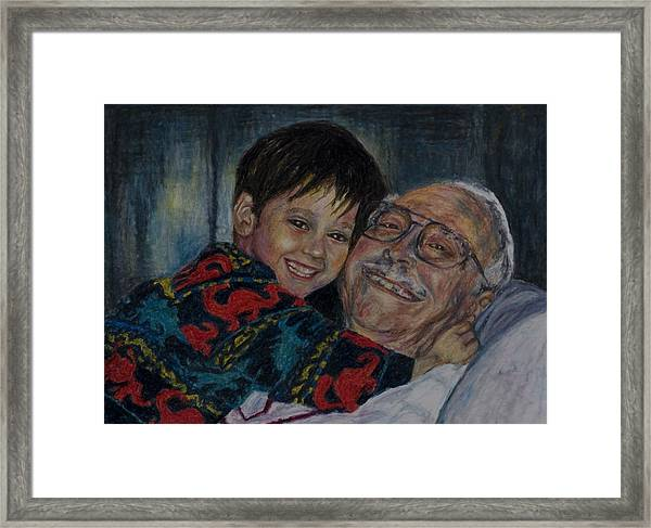 Doug And Papafred Framed Print