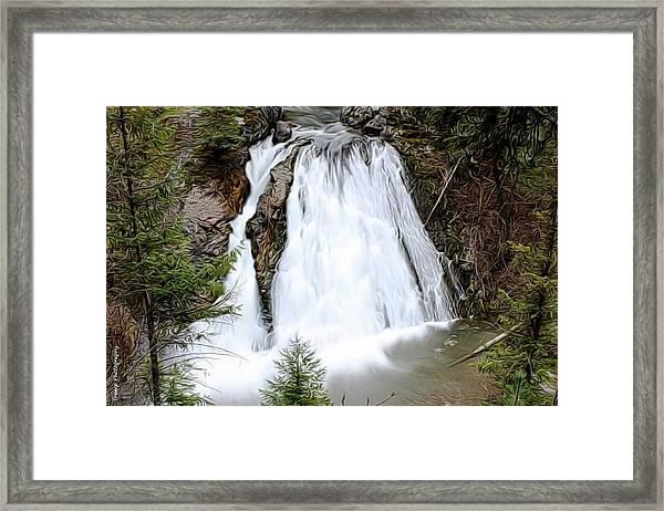 Douglas Falls  Framed Print