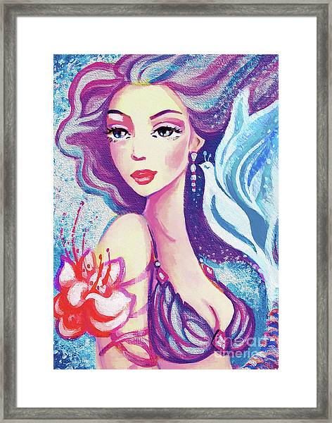 Dove Mermaid Framed Print