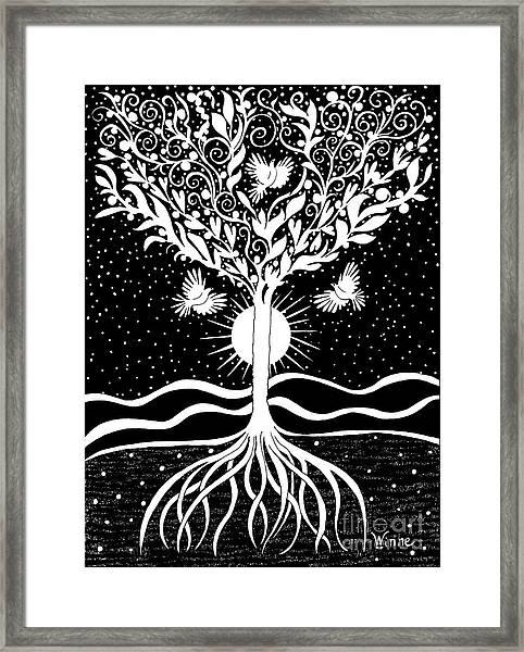 Dove Tree Framed Print
