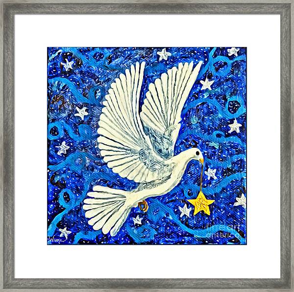Dove With Star Framed Print