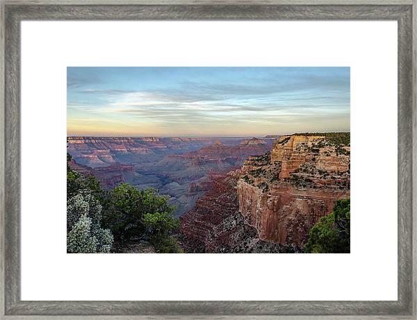 Down Canyon Framed Print