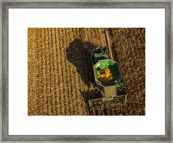 Down On The Combine Framed Print