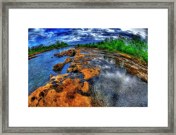 Down The Fall Framed Print by Tom Melo