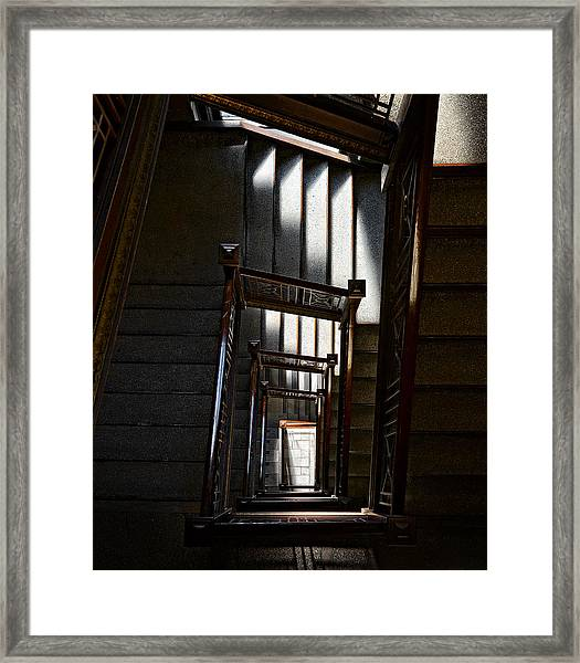 Down The Stairs Framed Print