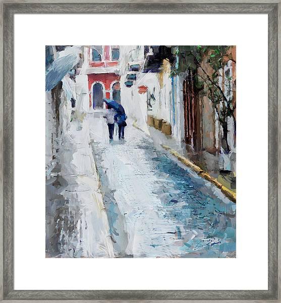 Down The Street Framed Print