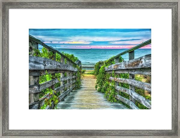 Down To The Beach Framed Print