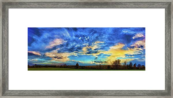 Downeast Sundown Framed Print