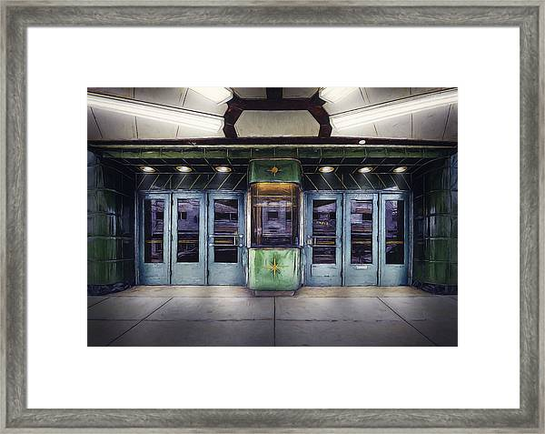 Downer Theater Box Office Framed Print