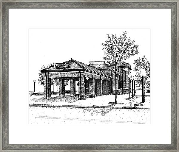 Downers Grove Main Street Train Station Framed Print