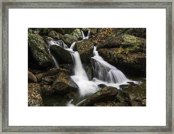 Downhill Flow Framed Print