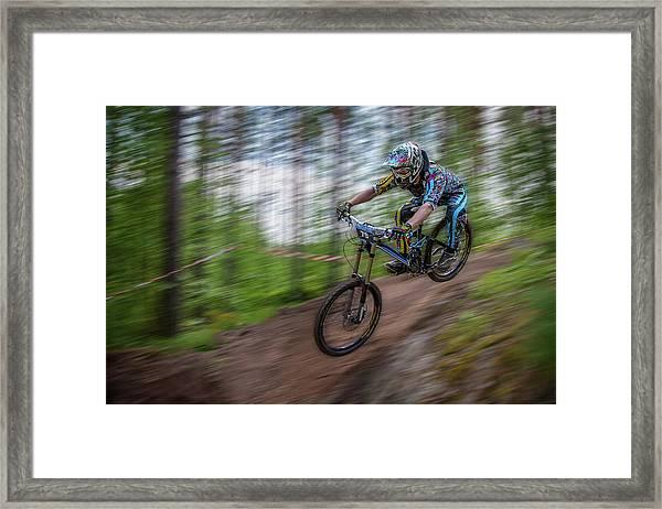 Downhill Race Framed Print