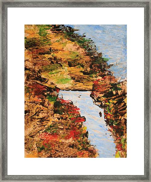 Downhill Stream Abstract Framed Print