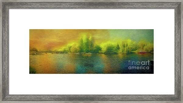 Downriver Glow Framed Print