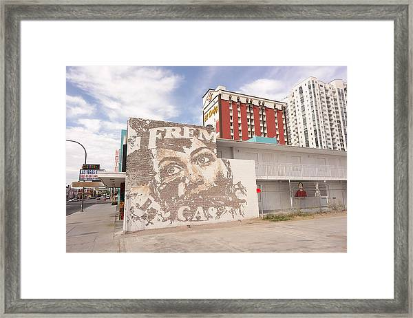 Downtown After Framed Print