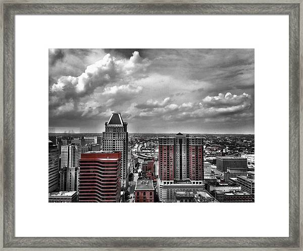 Downtown Baltimore City Framed Print