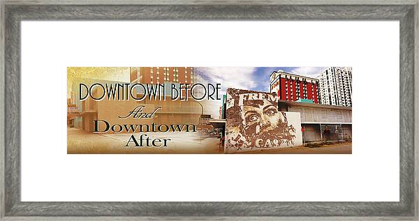 Downtown Before And Downtown After Framed Print
