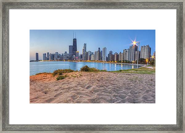 Downtown Chicago From North Beach Framed Print
