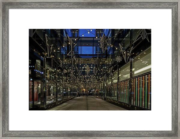 Downtown Christmas Decorations - Washington Framed Print