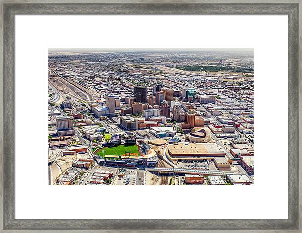 Downtown El Paso Framed Print