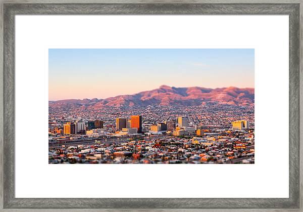 Downtown El Paso Sunrise Framed Print