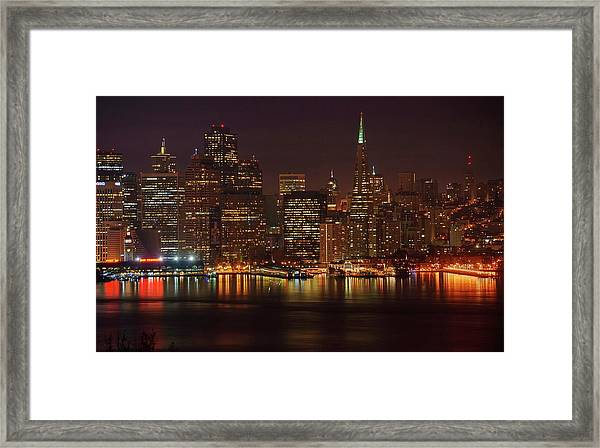 Downtown Gotham City Framed Print