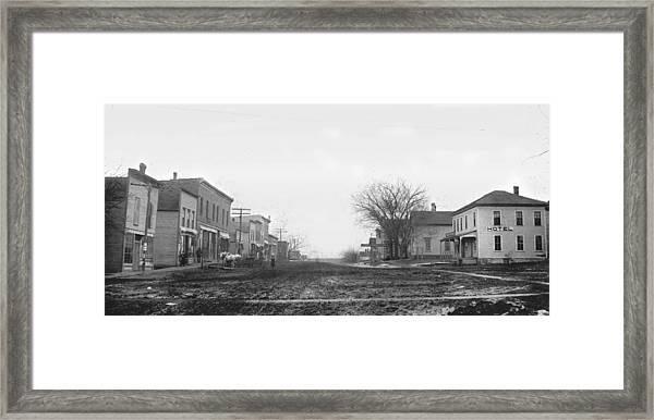 Downtown Hudson Iowa Framed Print