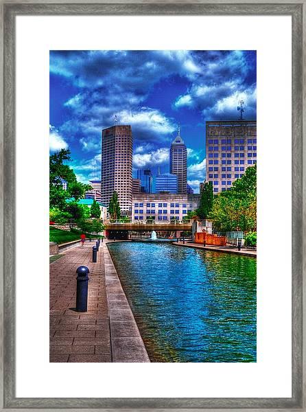 Downtown Indianapolis Canal Framed Print