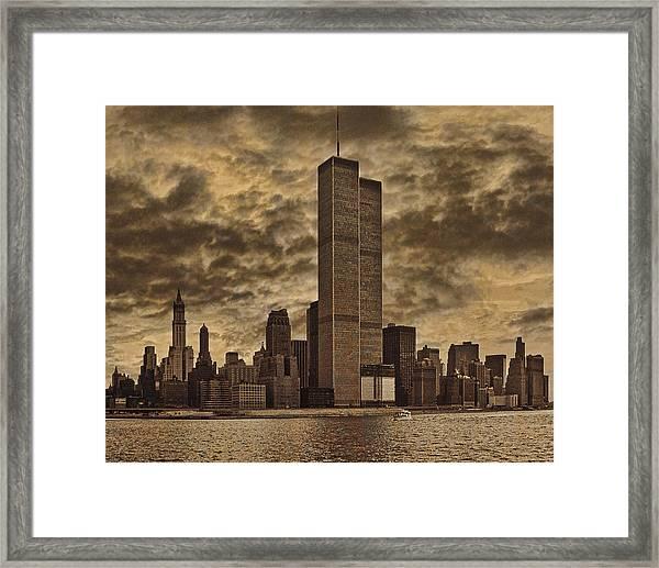 Downtown Manhattan Circa Nineteen Seventy Nine  Framed Print