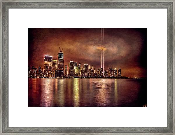 Downtown Manhattan September Eleventh Framed Print