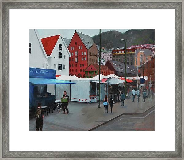 Fish Market Framed Print by Arild Amland