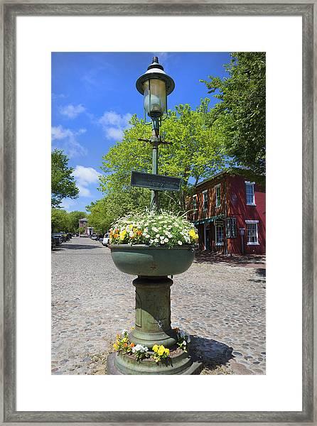 Downtown Nantucket - Garden View 46y Framed Print