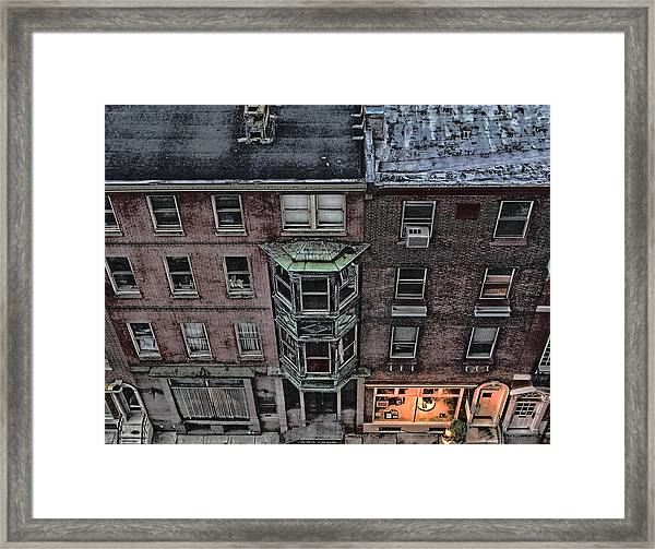 Downtown Philadelphia Building Framed Print by Anthony Rapp