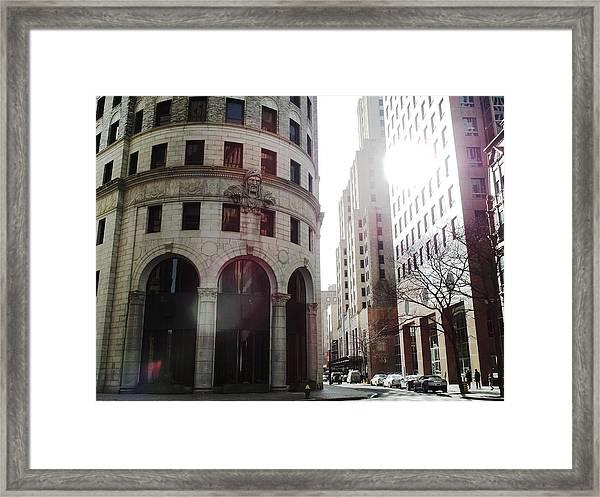 Downtown Providence Framed Print